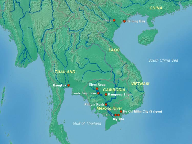 Mekong River Map