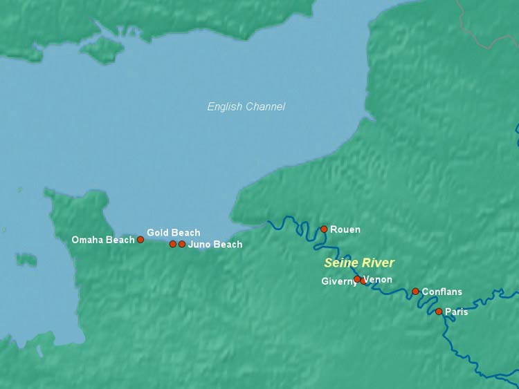 Seine River Map